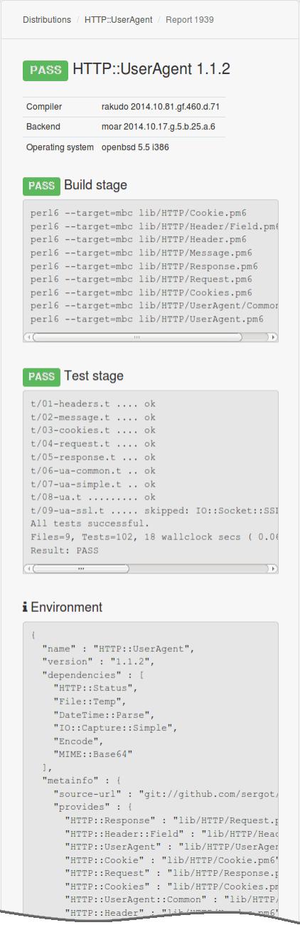 Sample test report